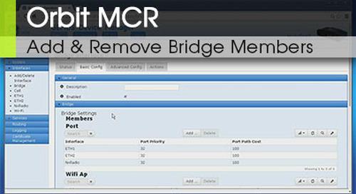 Orbit™ MCR | Adding and Removing Bridge Members v1.2