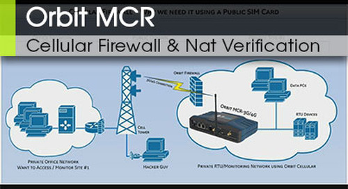 Orbit™ MCR | Cellular Interface Firewall and Nat Verification v1.0