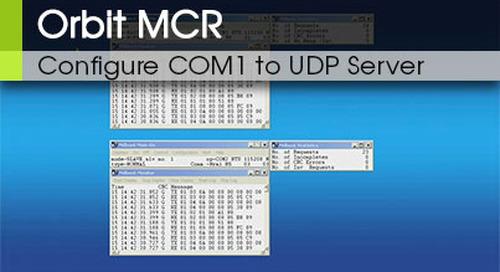 Orbit MCR | Configure COM1 to UDP Terminal Server v3.0