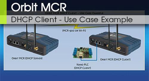 Orbit MCR DHCP Client Configuration v3.0