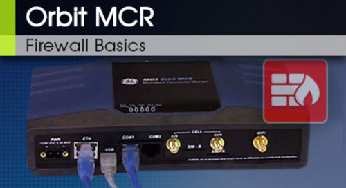 Orbit MCR Firewall Basics v1 0