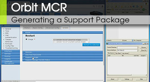 Orbit MCR | Generating a Support Package v3.0