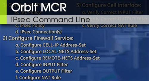 Orbit™ MCR | IPsec Command Line - Video 2 v2.2