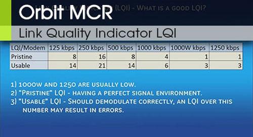 Orbit MCR Link Quality Indicator LQI v1 0