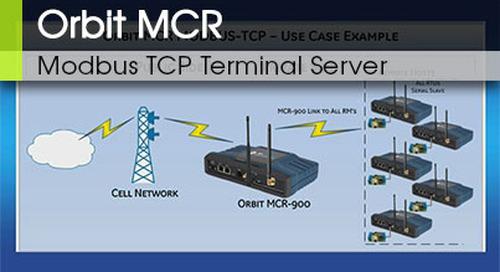 Orbit MCR Modbus TCP Terminal Server v3.0