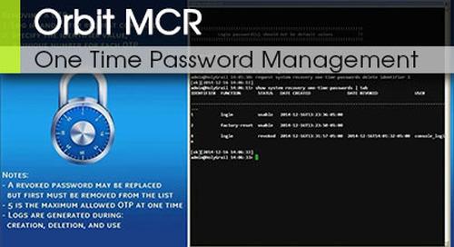 Orbit MCR One Time Password Management v3.1
