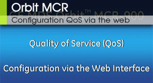 Orbit MCR | QoS Video 3 Configuration QoS via the Web Interface v3.3