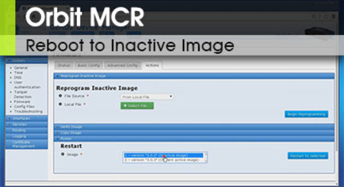Orbit MCR | Reboot to Inactive Image v3.0