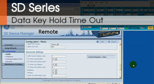SD Series™ | Data Key Hold Time Out v1.1