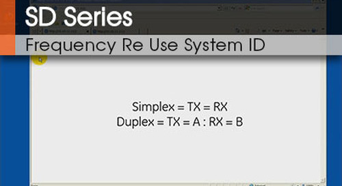 SD Series™ | Frequency Re Use System ID v1.1