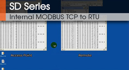 SD Series™ | Internal MODBUS TCP to RTU Conversion v1.1