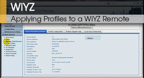 WiYZ™ | Applying Profiles to a WiYZ™ Remote v1.1