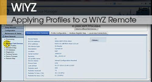 WiYZ™ | Applying Profiles to a WiYZ™ Remote v1.1
