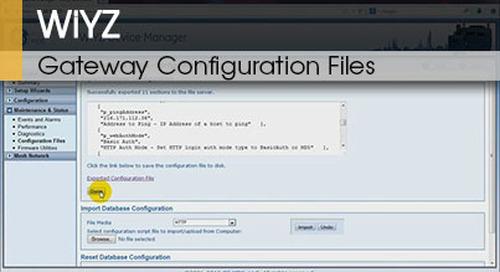 WiYZ™ | Gateway Configuration Files v1.1