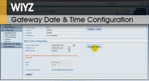 WiYZ™ | Gateway Date and Time Configuration v1.1