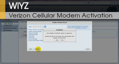 WiYZ™ | Gateway Verizon Cellular Modem Activation v1.1