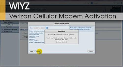 WiYZ™ | Gateway Verizon Cellular Modem Activation v1.1