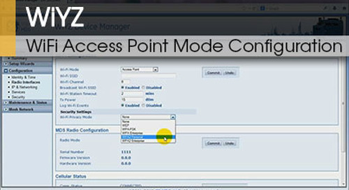 WiYZ™ | Gateway WiFi Access Point Mode Configuration v1.1