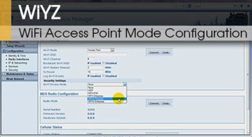 WiYZ™   Gateway WiFi Access Point Mode Configuration v1.1