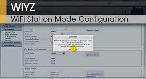WiYZ™ | Gateway WiFi Station Mode Configuration v1.1