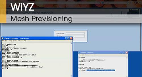 WiYZ™   Mesh Provisioning v1.1