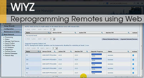 WiYZ™ | Reprogramming Remotes using the Gateways Web Interface v1.1