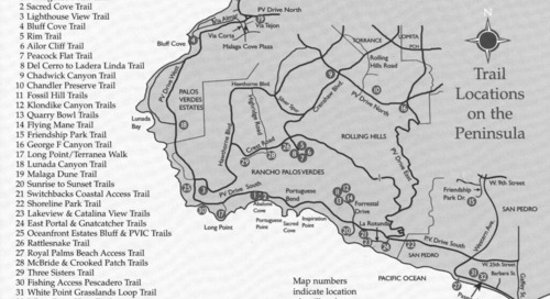 15 Easy Palos Verdes Hikes: Map with All 32 Trails
