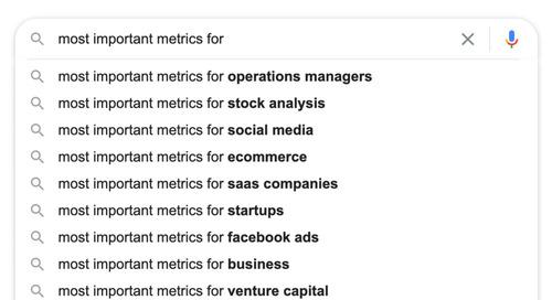 Metrics, Metrics, Everywhere!