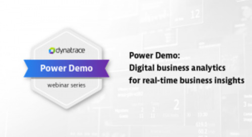 Power Demo: Digital business analytics for real-time business insights