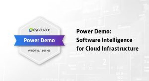 Power Demo: Software Intelligence for Cloud Infrastructure