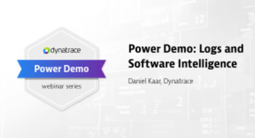 Power Demo: Logs and Software Intelligence