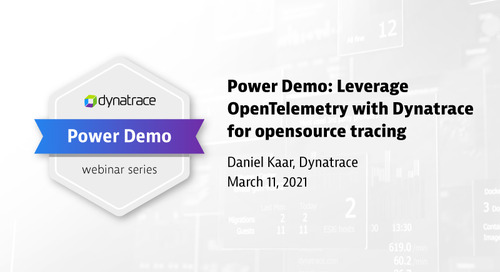 Power Demo: Leverage OpenTelemetry with Dynatrace for opensource tracing