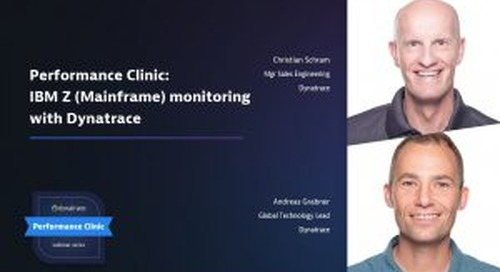 Performance Clinic: IBM Z (Mainframe) monitoring with Dynatrace
