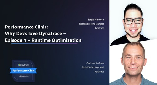 Performance Clinic: Why Devs love Dynatrace – Episode 4 – Runtime Optimization