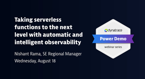 Power Demo: Taking Serverless Functions to the Next Level with Automatic and Intelligent Observability