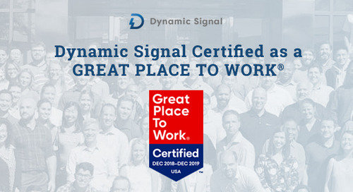 Dynamic Signal Certified as a GREAT PLACE TO WORK®