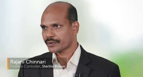 Finance Team Leads Digital Transformation at Sterlite | Customer Success Story