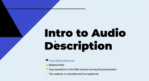 Intro to Audio Description (12-10-2020)