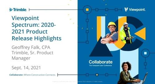 Spectrum - Trimble Construction One & Spectrum 2020-2021 Product Release Highlights