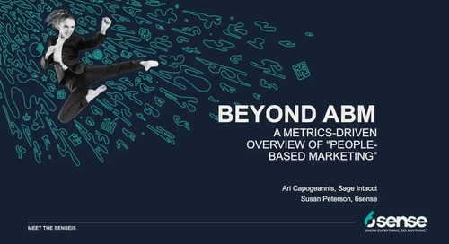 Meet the Sensei's | Beyond ABM with Ari Capogeannis of Sage Intacct