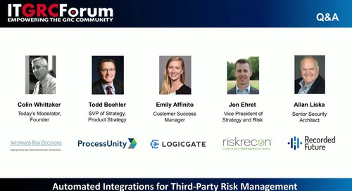 Webinar Replay: Automated Integrations for Third-Party Risk Management