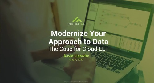 Modernize Your Approach to Data with Cloud ELT