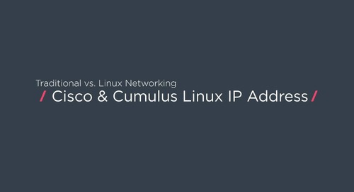 How to configure an IP address with Cisco vs. Cumulus Linux