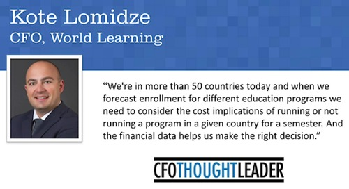 How Data Is Fueling a Not-for-Profit's Greater Mission | Kote Lomidze, CFO, World Learning