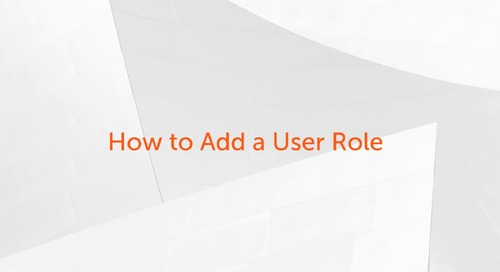 Enterprise A2019 - How to add a user role