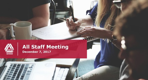 All Staff Meeting - December 7, 2017