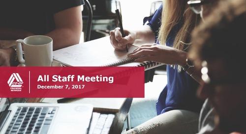 All-Staff Meeting - December, 2017