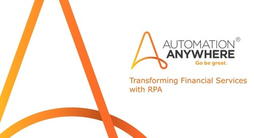 Webinar - Transforming Banking and Financial Services with RPA