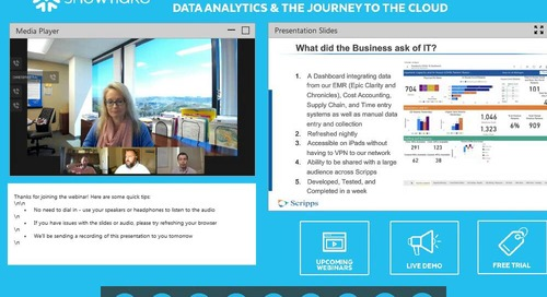 Webinar - Healthcare Virtual Panel: Data Analytics and the Journey to the Cloud
