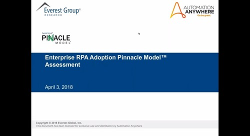 Everest Group RPA Study: Pinnacle Enterprises Generate 4X the ROI